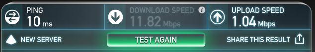 בדיקת מהירות גלישה באינטרנט